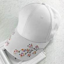 Verano moda Flor del ciruelo bordado colorido flor mujeres sol-shading gorra  de béisbol mujeres Hip Hop chica Snapback Cap Gorra. 8319c48a9c2