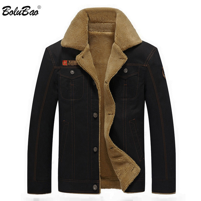 BOLUBAO 2018 New Men Winter Jacket Coats Fashion Quality Thick Warm Fleece Lined Military Outerwear Coat For Drop Shipping