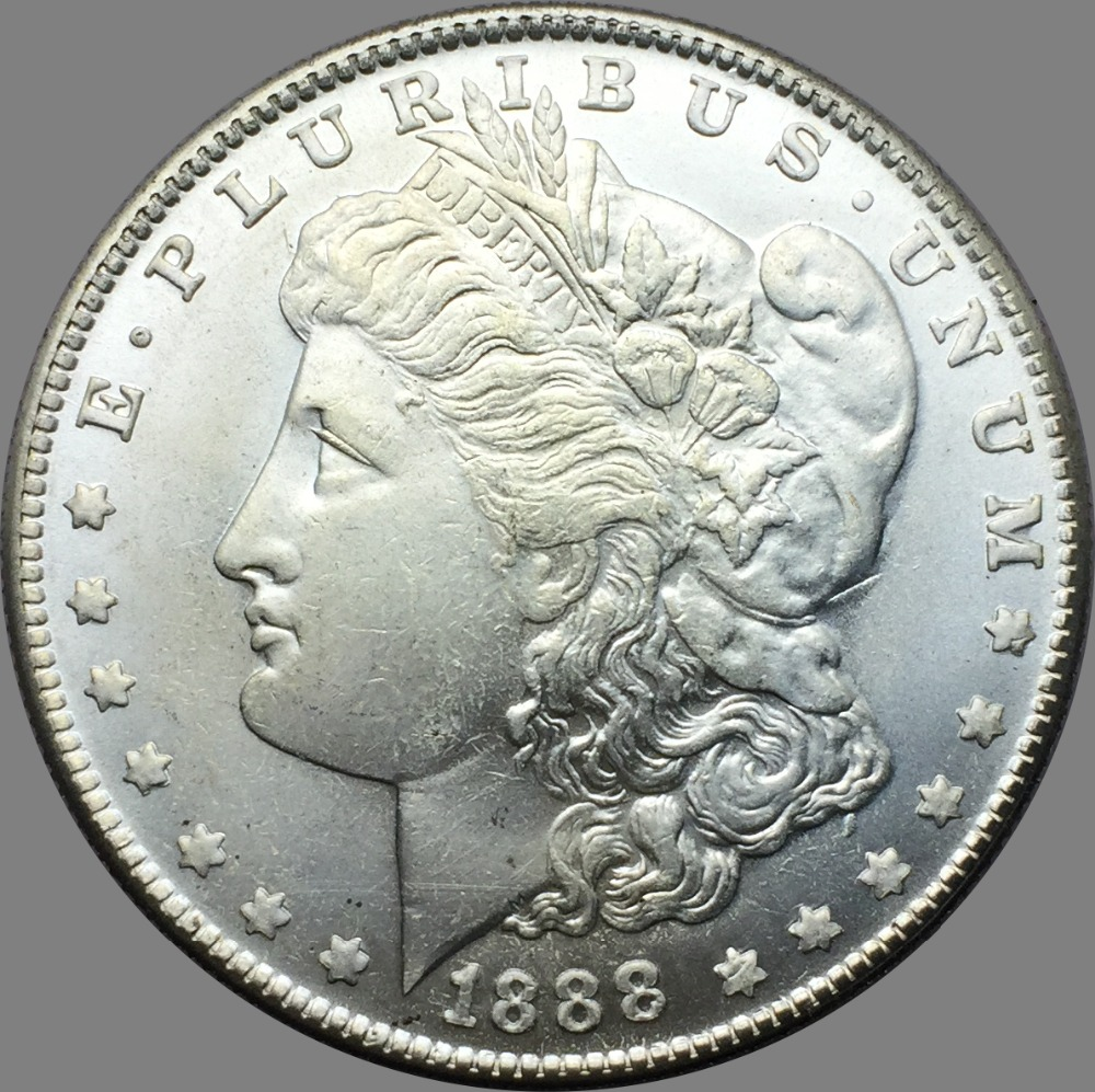 Untied States 1888 Silver Plated Morgan One Dollar Copy