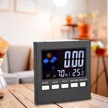 Estación meteorológica Termómetro Higrómetro Temperatura Humedad Reloj Despertador Calendario t22