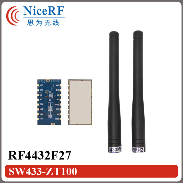 Бесплатная доставка-2 pcslot 500 МВт 3 км long distance range 433 МГц ООК/GFSK/FSK Трансивера RF4432F27