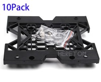 Express Free Shipping 10pcs 5.25 to 3.5 2.5 SSD HDD Bay Tray Case Adapter Cooling PC Fan Mounting Bracket W/screws