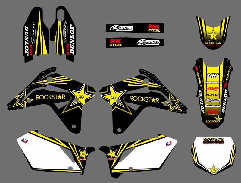 NEW TEAM DECALS GRAPHICS BACKGROUNDS STICKERS FOR Suzuki RMZ450 RM Z 450 RMZ 2007 Motorcycle Graphic
