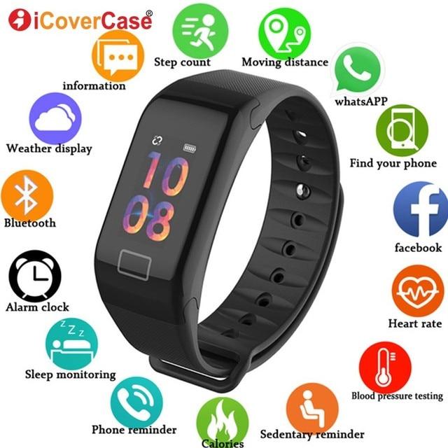 สมาร์ทนาฬิกาสายรัดข้อมือสุขภาพความดันโลหิต IP67 สร้อยข้อมือสำหรับ Huawei Honor 10 9 8 lite 8x max 7x V20 nova 4 3 2 Plus