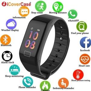 Image 1 - Smart Watch Wristbands Health Monitor Blood Pressure IP67 Bracelet For Huawei Honor 10 9 8 lite 8x max 7x V20 Nova 4 3 2 Plus