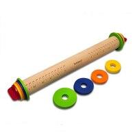 Деревянная палочка для выпечки Скалка помадка регулируемые Скалки многофункциональная толщина тиснение узорные Инструменты для торта