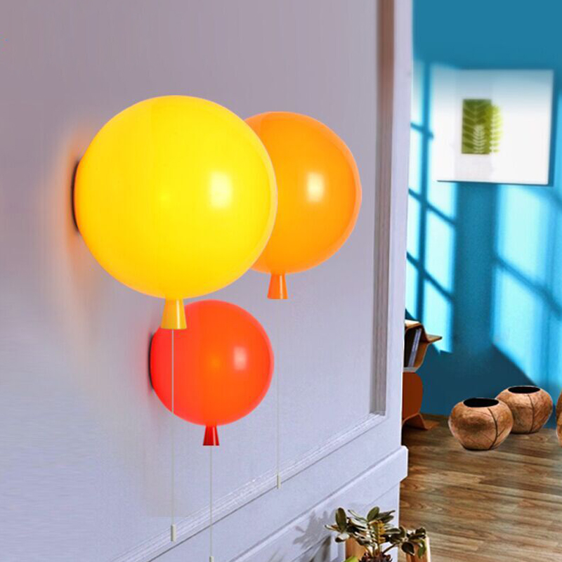 Modern brief dia 35cm children bedroom balloon wall lamp bedroom modern brief dia 35cm children bedroom balloon wall lamp bedroom bedside wall lights lamp in wall lamps from lights lighting on aliexpress alibaba mozeypictures Image collections