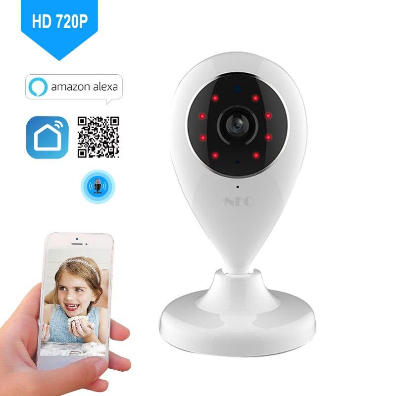 Caméra IP Wifi HD 720 P caméra de Surveillance réseau sans fil Notification d'application de vie intelligente Compatible avec Alexa Google Home