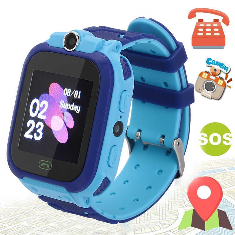 S12 Smart Watch Kids IP67 Waterproof Sport GPS Smart Clock Android Children SOS Call Smartwatch with Camera SIM Card HD Touch