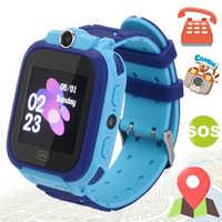 S12 Astuto Della Vigilanza Bambini IP67 Impermeabile di Sport GPS Intelligente Orologio Android Bambini SOS di Chiamata Smartwatch con SIM Card Della Macchina Fotografica HD touch