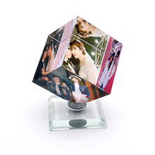 Customized Square Shaped Crystal Photo Frame Color Printing Personalized Picture Glass Wedding Souvenir Birthday Gifts