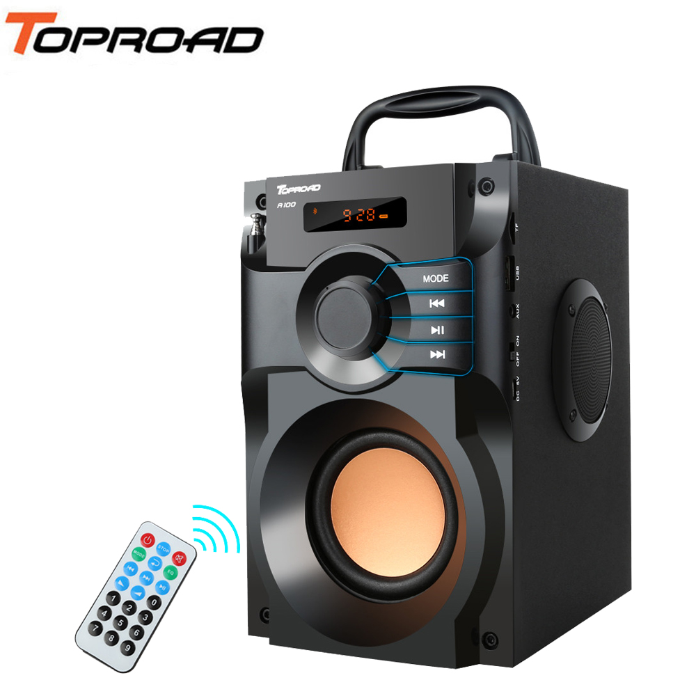TOPROAD Stereo Bluetooth Speaker Subwoofer Supper Bass Wireless Speakers Dancing Boombox Sound Box Support FM Radio TF AUX USB