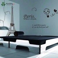 YOYOYU Wall Decal Vinyl Room Decoration Paris Eiffel Tower Bedroom Home Decor Removable Wall Sticker Art