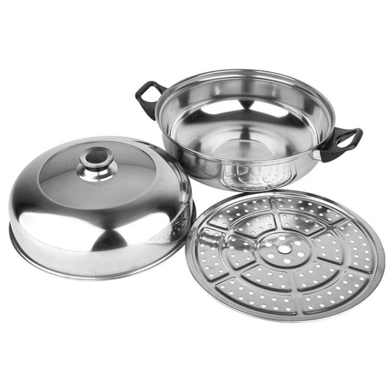 28 CM Edelstahl Topf Wasserbad Hot Pot Panelas Mit Einem Dampfer mehrzweck Dampfenden Kochtopf Küche werkzeuge JK1129