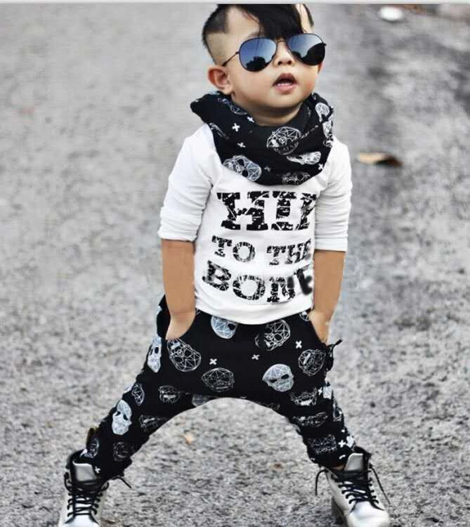 Baby boy clothing sets 2017 kids Toddle clothing sets Letter printed T shirt Pants Cotton newborn