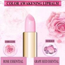 Bqcover 2018 New Gift COLOR AWAKENING LIPBALM Rose Grape Seed Customized Color Temperature Change LIP BALM Moist Repair Lipstick