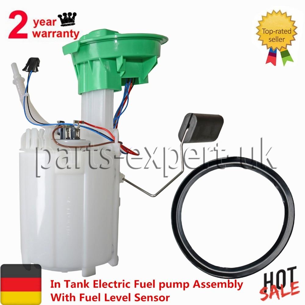 In Tank Electric Fuel pump Assembly + Fuel Level Sensor for BMW Mini Cooper S R53 GAM985 16146766176 16146766177 1.6L-L4 lzone racing black aluminium fuel surge tank with cap foam inside fuel cell 40l without sensor jr tk21bk