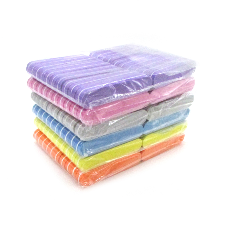100pcs Sponge Nails Buffer Files Professional Brand Nail File UV Gel Nail Tool Colorful Sandpaper Lime Ongle Para Manicure Set
