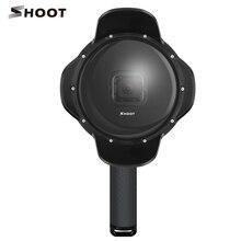 Профессиональный 6 дюймов 40 м Дайвинг купол Порты и разъёмы рыбий глаз крышка объектива для GoPro Hero 5 Black HERO5 спортивные Камера Аксессуары стрелять