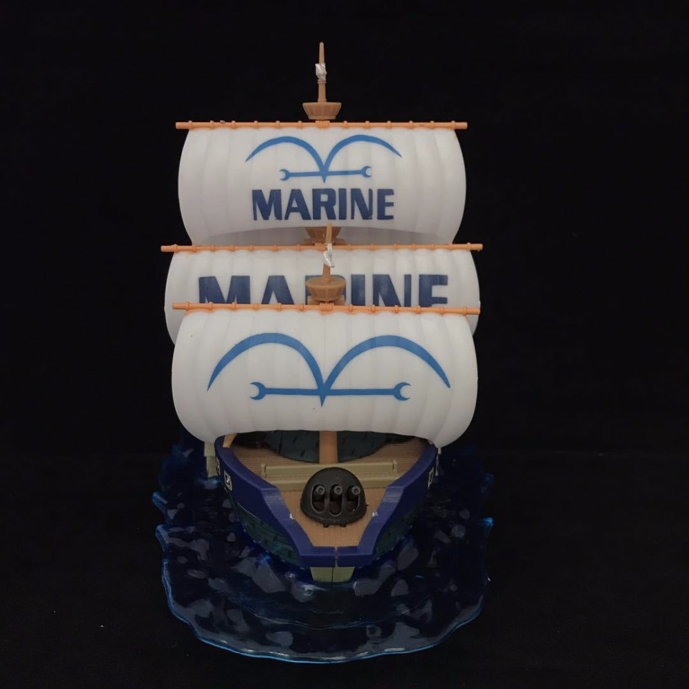 14cm One piece navy ship Cartoon Anime Action Figure PVC toys Collection figures for friends gifts
