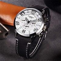 EYKI Reloj Hombre модные Для мужчин S Часы Лидирующий бренд роскошные кожаные кварцевые часы световой Спорт Для мужчин наручные часы мужской часы ч...