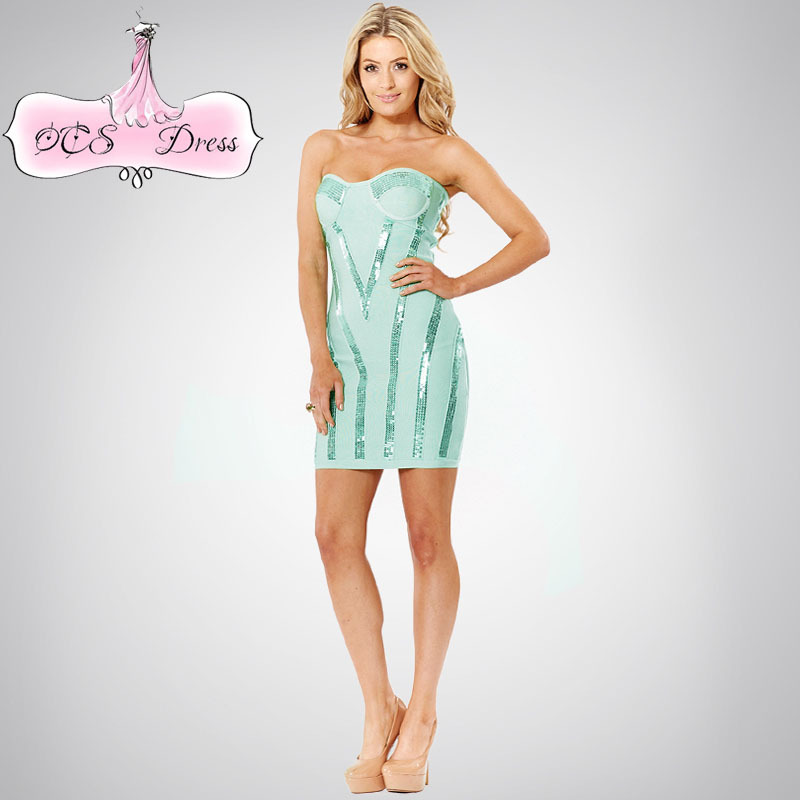 Popular Aqua Strapless Dress-Buy Cheap Aqua Strapless Dress lots ...