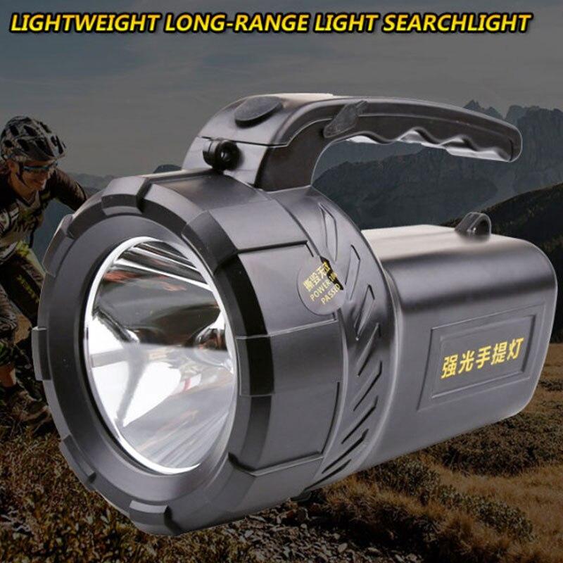 High Power Portable Spotlight 2 Mode Lantern Searchlight Rechargeable Waterproof Hunting Spotlight 18650 Built-in Battery