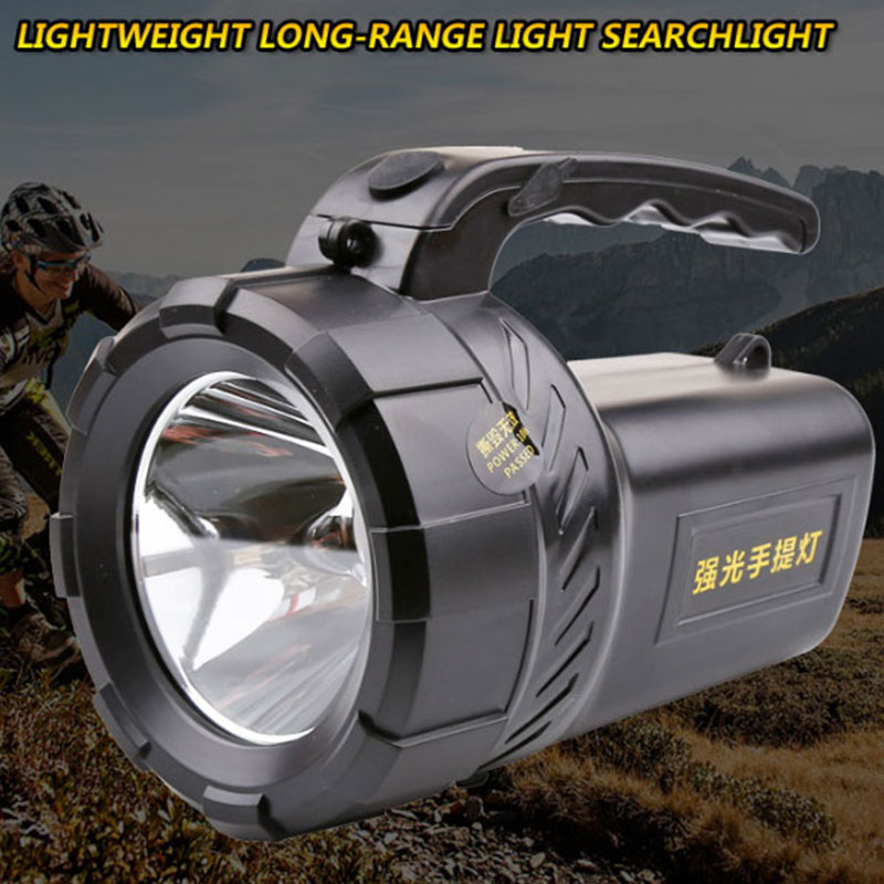 High power portable spotlight 2 mode lantern searchlight rechargeable waterproof hunting spotlight 18650 Built-in <font><b>battery</b></font> image