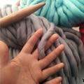 Hot 250g 36M Super Thick Natural Merino Wool Chunky Yarn Felt Wool Roving Yarn for Spinning Hand Knitting Spin Yarn Winter Warm
