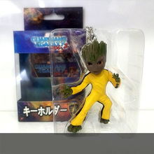 цена на Baby Groot Tree Man Keychain Pendant Action Figures Guardians of The Galaxy Toy Tree Man Cute Model Toy