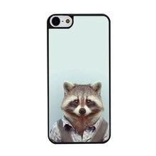 Fashion Man Shape Animal Funny 2016 Hot Selling UV Black Bag Case For iPhone5C