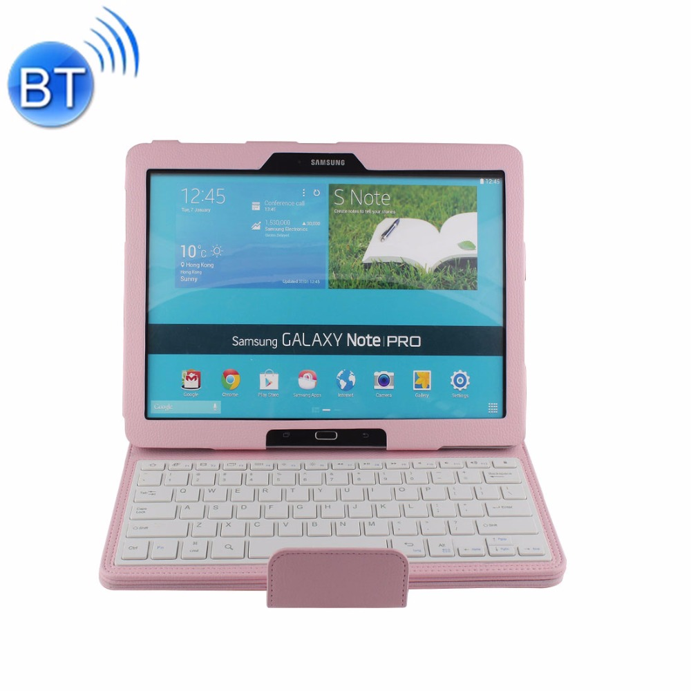 For 12.2 inch Samsung Galaxy Note Pro / P900 Separable Horizontal Flip Leather Case + Bluetooth Keyboard with Holder