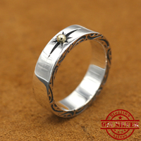 100% S925 sterling silver ring personality fashion retro punk style sun simple style to send gifts for lovers 2018 new hot