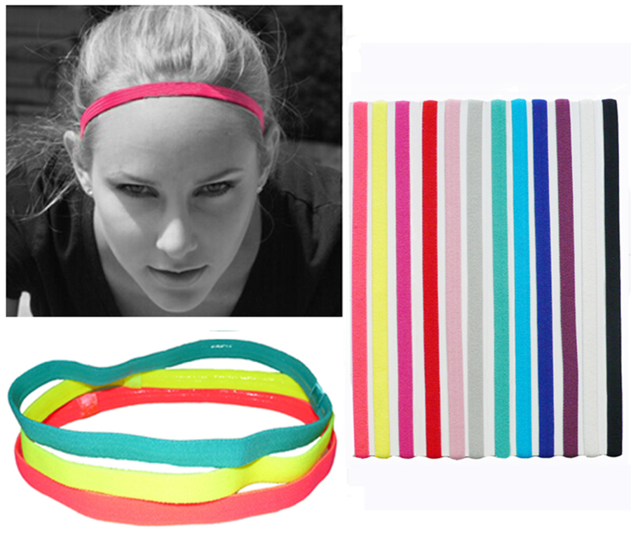 Slim Single Sports Elastic Headband Softball Soccer s