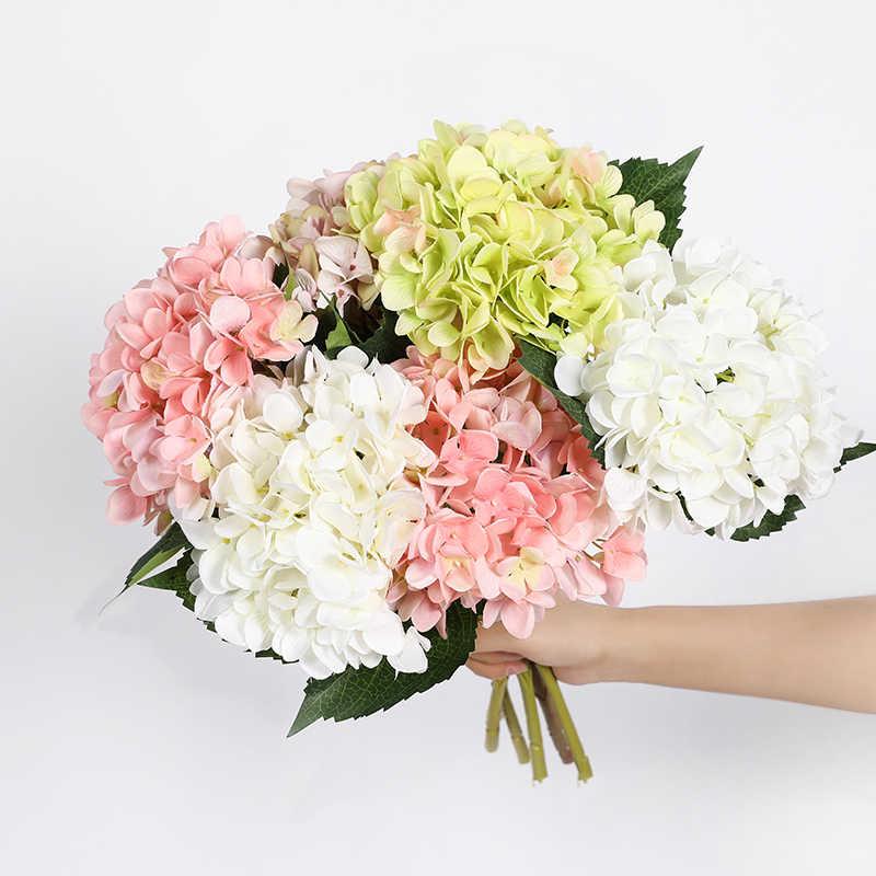 Erxiaobao 人工花安いシルクアジサイ花束ホーム屋内結婚式の秋の花の装飾アクセサリー秋の装飾