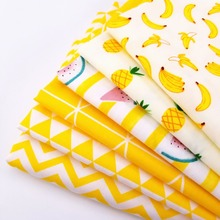 Yellow Series Patchwork Cotton Twill Quilting Fabric High Quality Breathable Sewing Material For Baby & Child By Meters