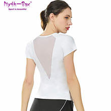 Women Yoga Shirts Female Running Shirt Mesh Patchwork Fitness Tshirt Short Sleeve Sport T-shirt Slim Tee Tops Gym Workout Blouse jeansian men s sport tee shirt tshirt t shirt tops gym fitness running workout football short sleeve dry fit lsl131 gray