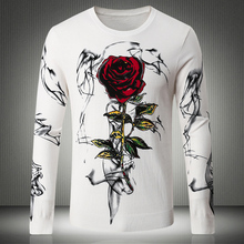 Winter new fashion shelves, fashion men's 3D printing long-sleeved sweater, high-end quality brand Men Sweaters