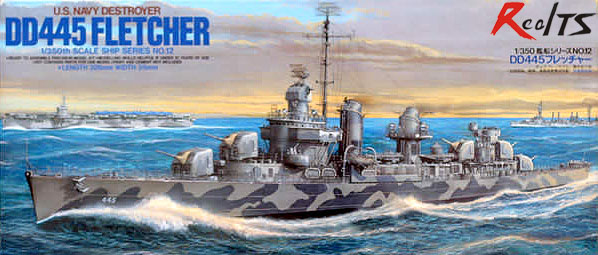 RealTS Tamiya 78012 Military Model 1/350 Scale War Ship DD445 FLETCHER Destroyer Hobby Model Kit realts tamiya 1 350 78015 tirpitz german battleship model kit