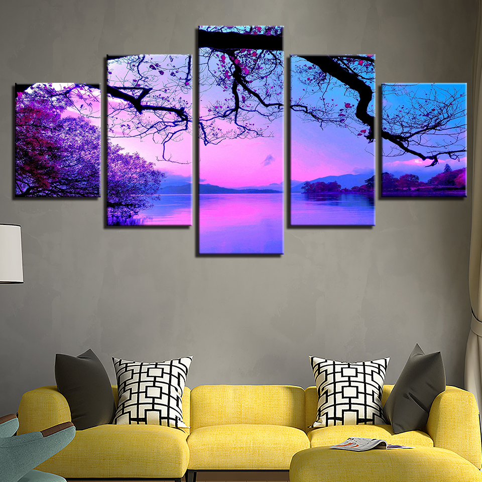 Canvas wall art paintings living room home decor framework - Landscape paintings for living room ...