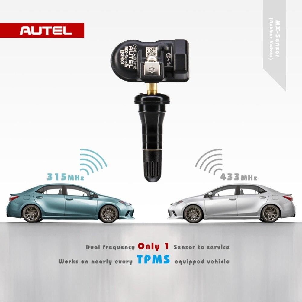 Image 2 - Autel mx сенсор TPMS 2 в 1 433 МГц 315 МГц датчик MX для autel MaxiTPMS TS601 инструмент диагностики давления в шинах программирующий монитор-in Тестеры давления и вакуумные тестеры from Автомобили и мотоциклы