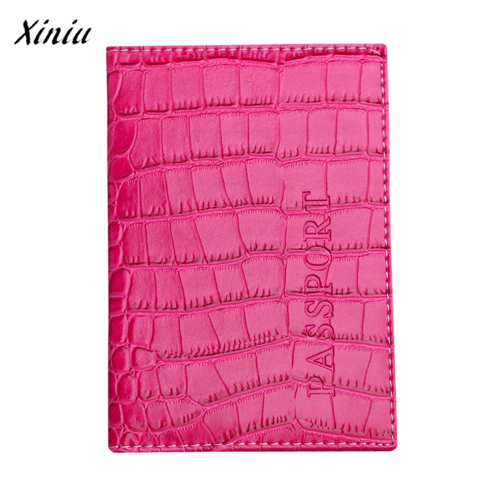 Passport holder protector solid color crocodile pattern leather mini passport holder protector solid color crocodile pattern leather mini wallet vintage business card cover porta pasaporte reheart Image collections