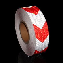 50MMX20M Arrow Motorcycle Sticker Reflective Stickers On Car Red White Yellow Black Reflector Reflecting Tape A Bicycle Trunk