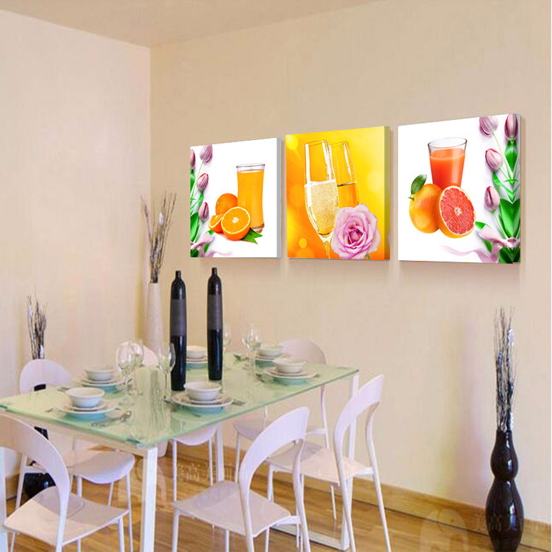 Prints Canvas Painting Dining Room Decorative Picture Paintings Modern Flower Kitchen Wall Decor Pictures No Frame HY56 In Calligraphy