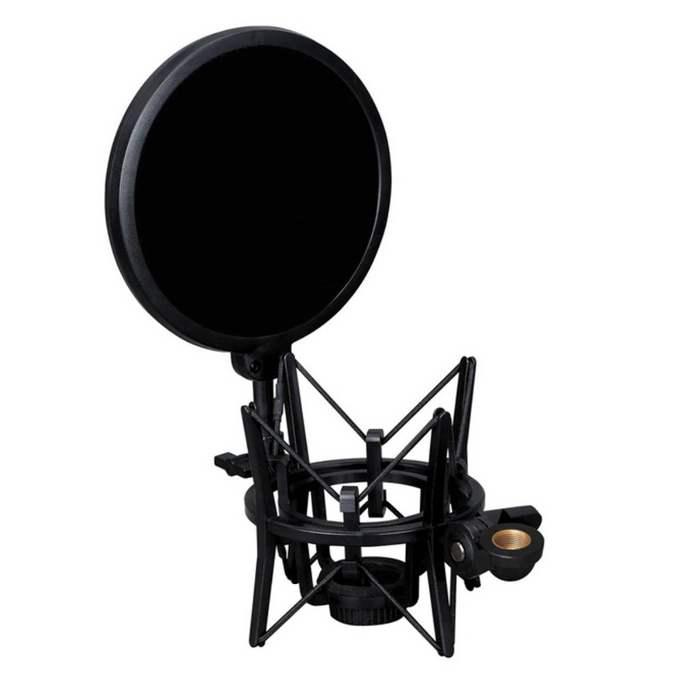 EDAL Double Layer Studio Microphone Mic Wind Screen Pop Filter With Shock Mount For Speaking Recording Accesories