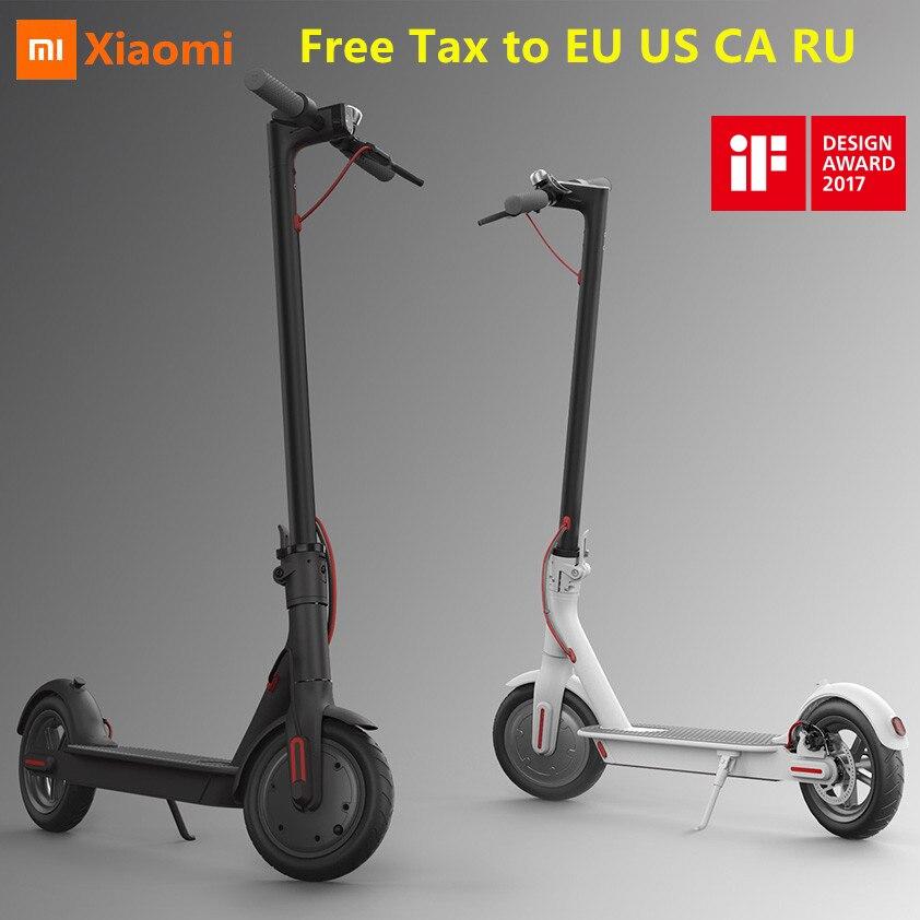 EU US RU Free Tax Original Xiaomi Mijia M365 Foldable Smart Electric Scooter Lightweight Hoverboard Skateboard