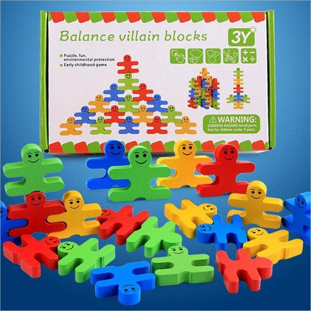 Wooden Montessori Building Blocks Set Colorful Toys For Children Preschool Training Brinquedo Juguet Oyuncak Juguetes Brinquedos