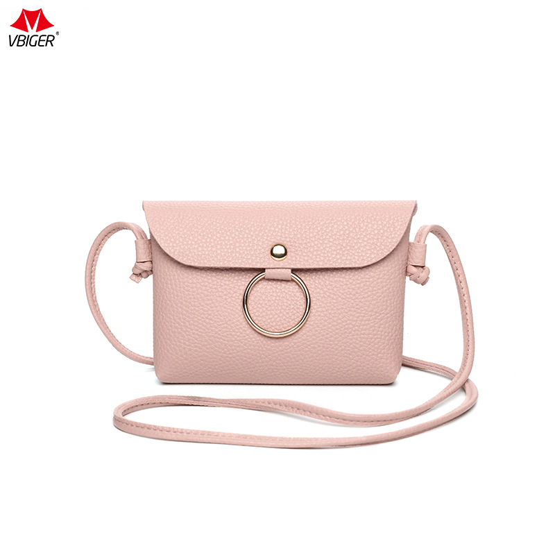 Vbiger Women and Girls Handbags Summer and Autumn Leisure New Lychee Pattern Shoulder Bag Six Color Crossbody Bags High Quality 2016 summer mix color cloth art shoulder woman bag leisure packages exclusively for export national bag