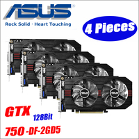 ASUS Video Graphics Card used Original GTX 750 4pcs 2GB 128Bit GDDR5 Video Cards for nVIDIA VGA Geforce GTX750 HDMI Dvi 1050