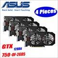 ASUS Vidéo Carte Graphique utilisé D'origine GTX 750 4 pcs 2 gb 128Bit GDDR5 Vidéo Cartes pour nVIDIA VGA Geforce GTX750 HDMI Dvi 1050